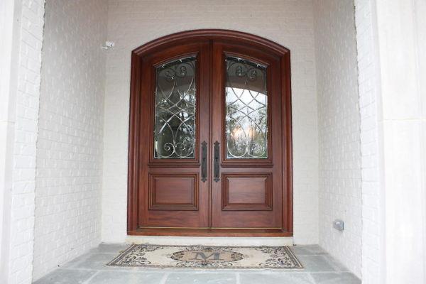Custom Entry Door with Wrought Iron Door Inserts, front door, front entry