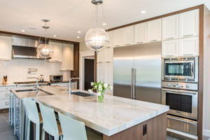 Contemporary Indianapolis Kitchen, Marble Countertops