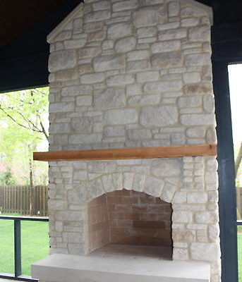 Indianapolis New Home Build Stone Fireplace Stone, Screened in porch with fireplace
