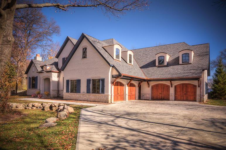 New build, exterior, boral pastelcoat brick exterior finish