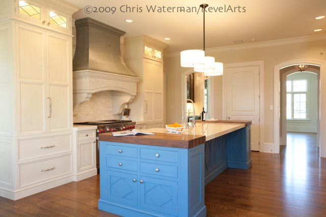 New Kitchen, Central Island with Bar