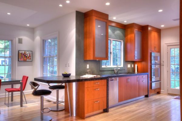 Indianapolis remodeling modern kitchen remodel stained cabinets