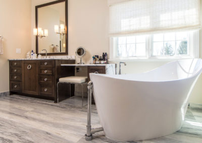Traditional to Modern Whole House Remodel – Master Bath & Powder Baths Remodel