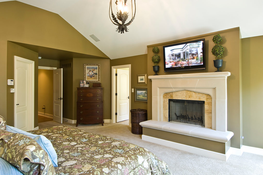 master suite, fireplace
