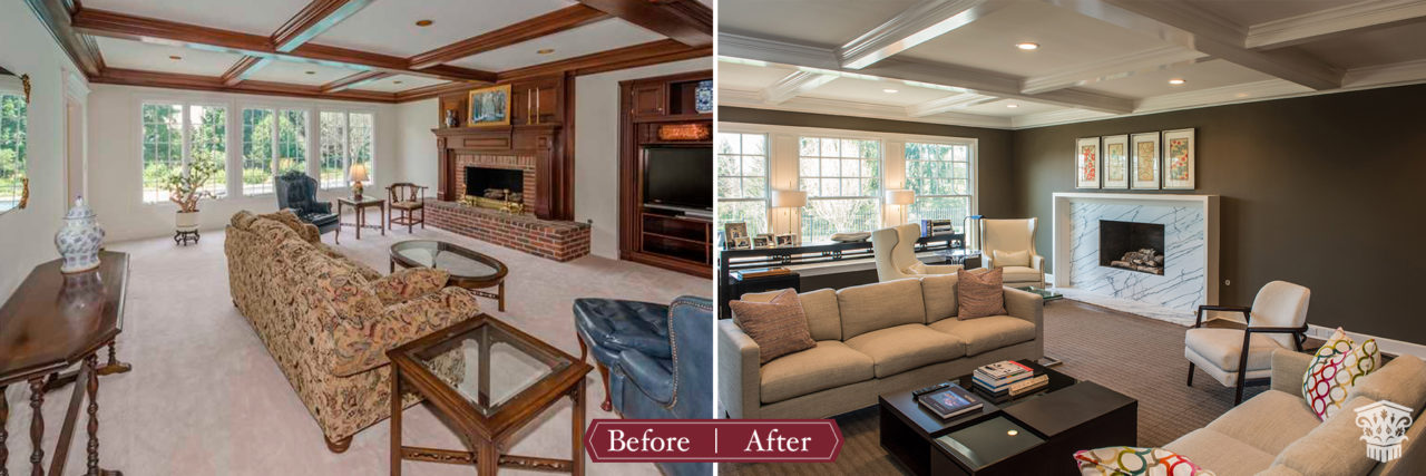 Marble Fireplace Before and After