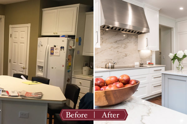 all white kitchen before and after