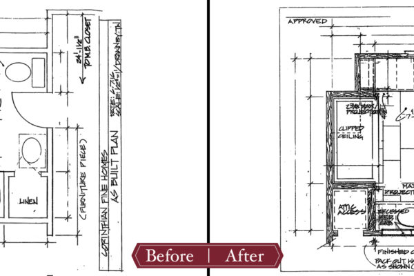 bathroom remodel floorplan before and after