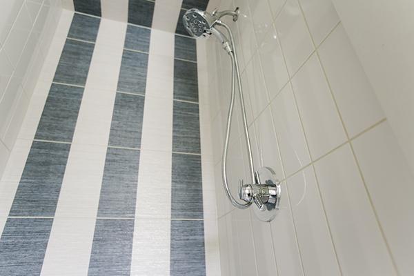 Indianapolis Jack and Jill Bath Remodel - Shower Close Up