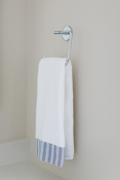 Indianapolis Jack and Jill Bath Remodel - Towel Rack Close Up