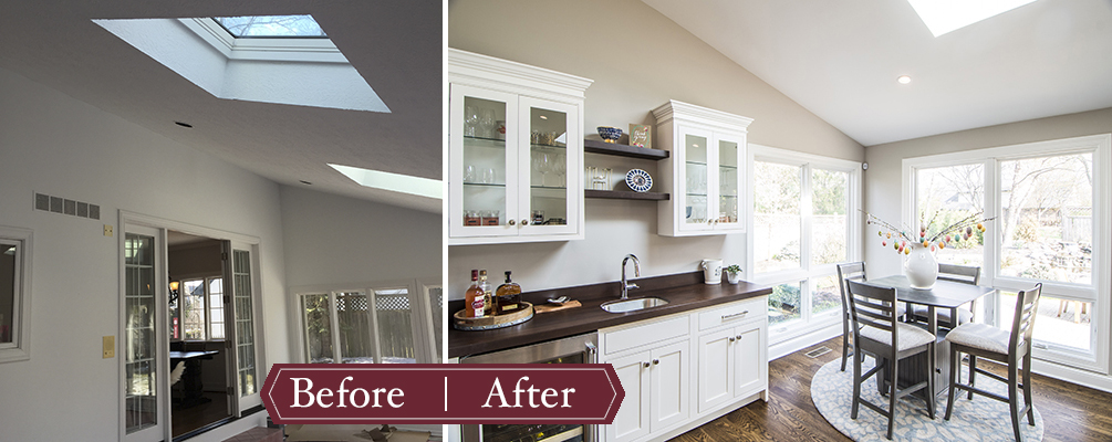 Remodeling Before and After - Eat In Kitchen