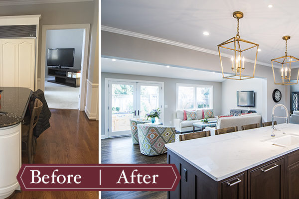 Remodeling Before and After - Kitchen & Family Room