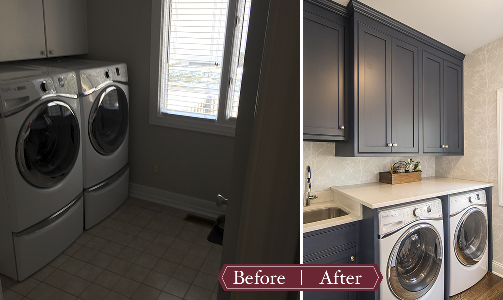 Remodeling Before and After - Laundry