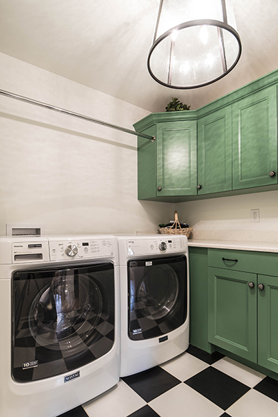 Modern Country Laundry Room