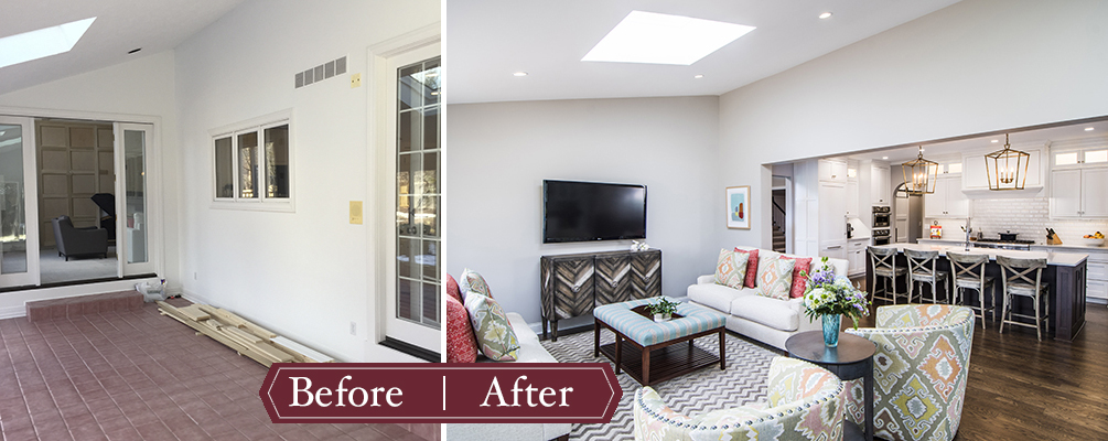 Remodeling Before and After - Sunroom