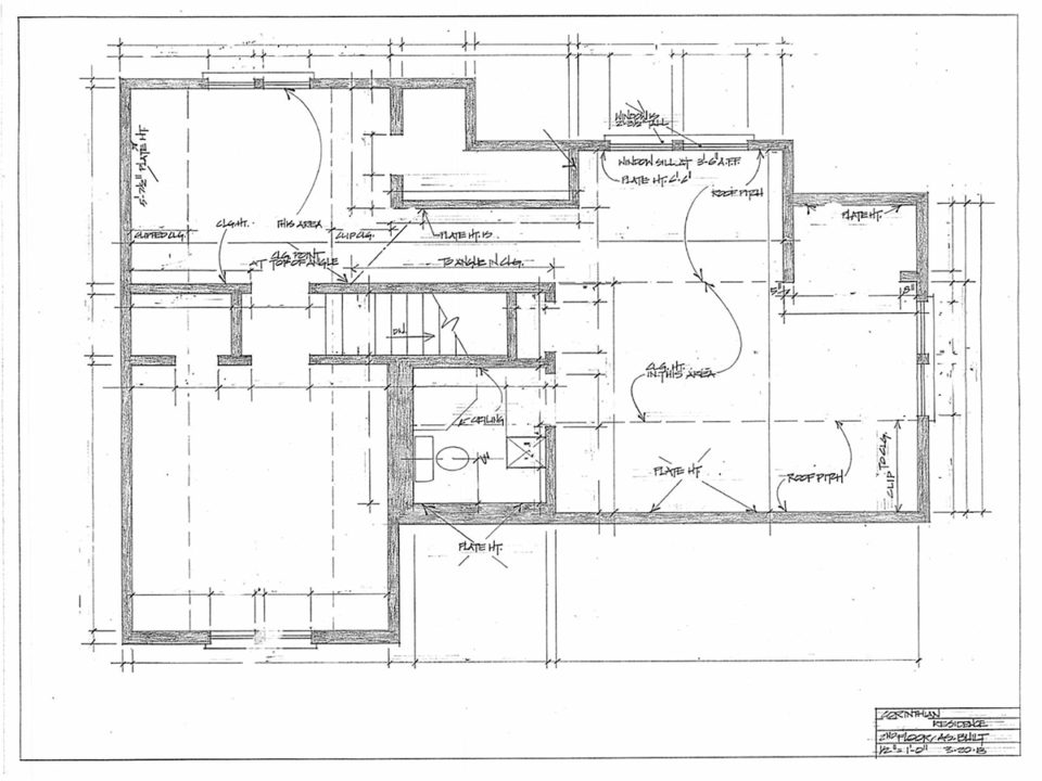 Master bathroom floor plan before