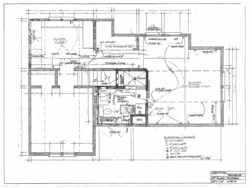 Master bathroom floor plan after