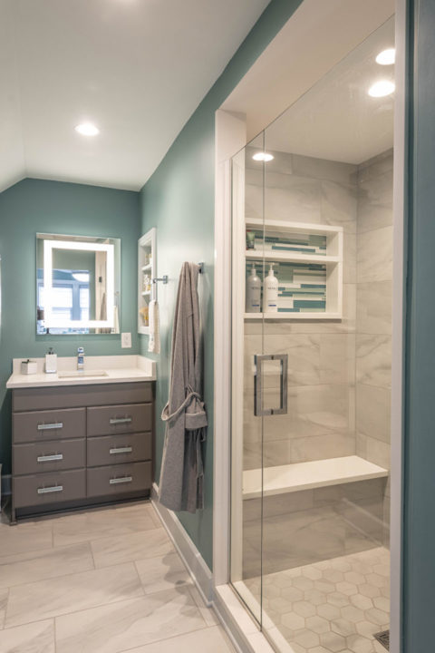 master bath frameless shower