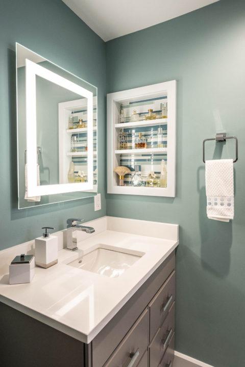 master bath modern vanity