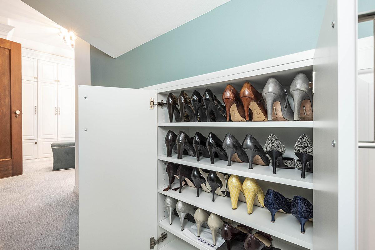 master bedroom shoe closet
