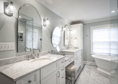 Classic Home gets Elegant Renovation Reminiscent of Original Design – Master Suite and Powder Bath Remodel