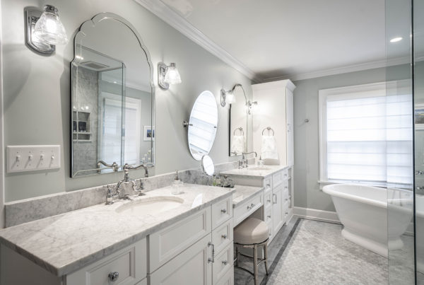 Master Bathroom Vanity and Freestanding Tub