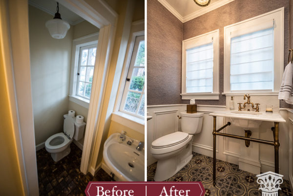 powder bath before and after
