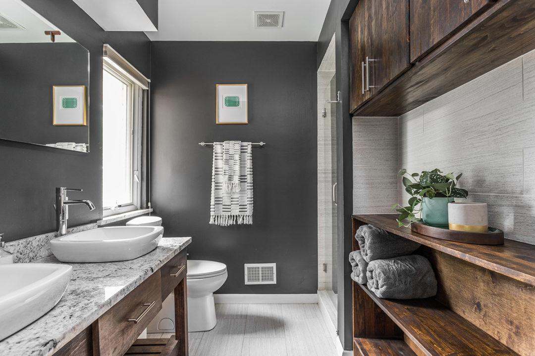 Mid Century Modern Master Bathroom