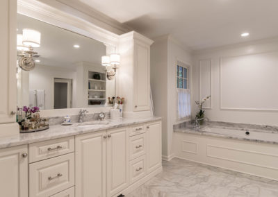 Transitional White & Gray Master Suite Addition