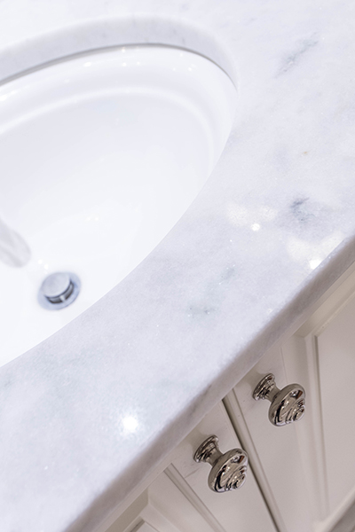 Devonshire Sinks by Kohler with Cassidy Single Hole Faucet by Delta