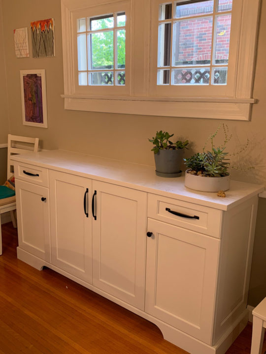 serving storage buffet, dining room
