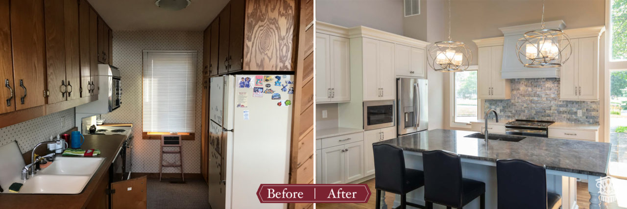 lake house kitchen before and after
