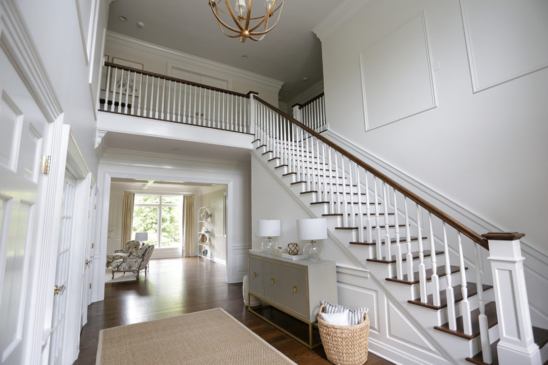 white open two-story entryway