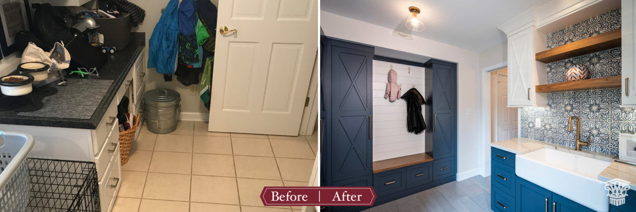 mud room before and after