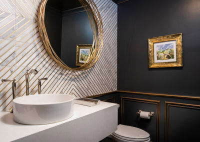 Dramatic Multi Room Renovation – Powder Baths