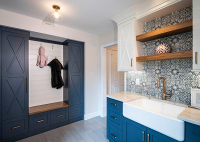 Dramatic Multi Room Renovation – Mudroom/Laundry, Powder Baths and Basement Transformation