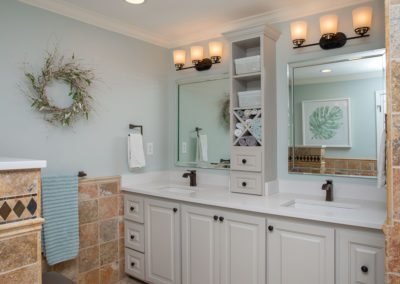 1970s Lakehouse Renovation with Two Bathroom Facelifts