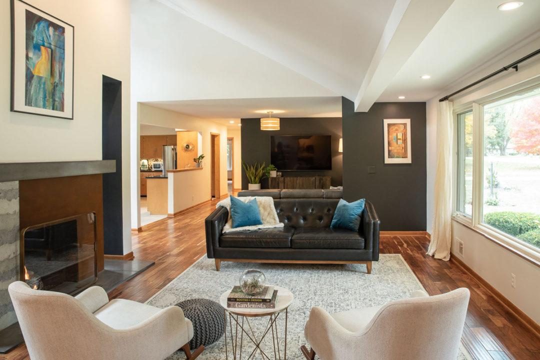 Mid-Century Modern Family Room