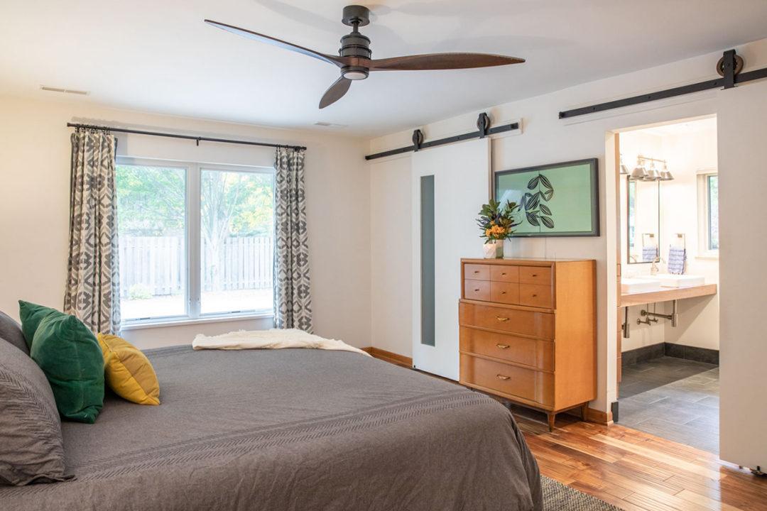 Mid-Century Modern Master Suite Bedroom