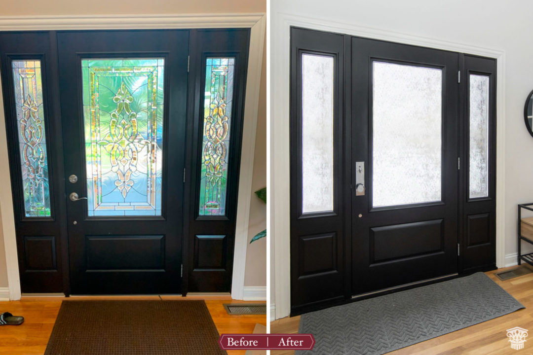 Contemporary First Floor Entry Door Before and After