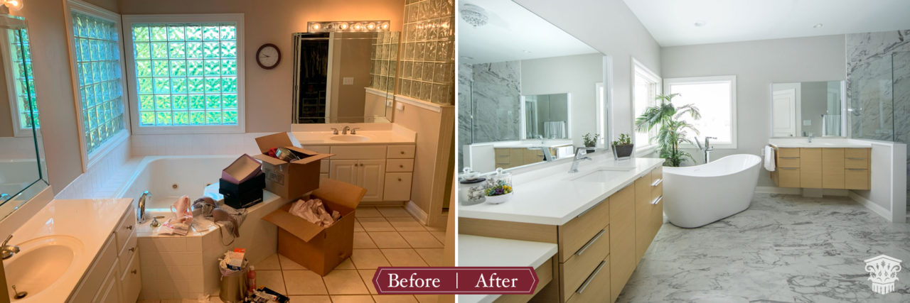 Contemporary Master Bath Before and After