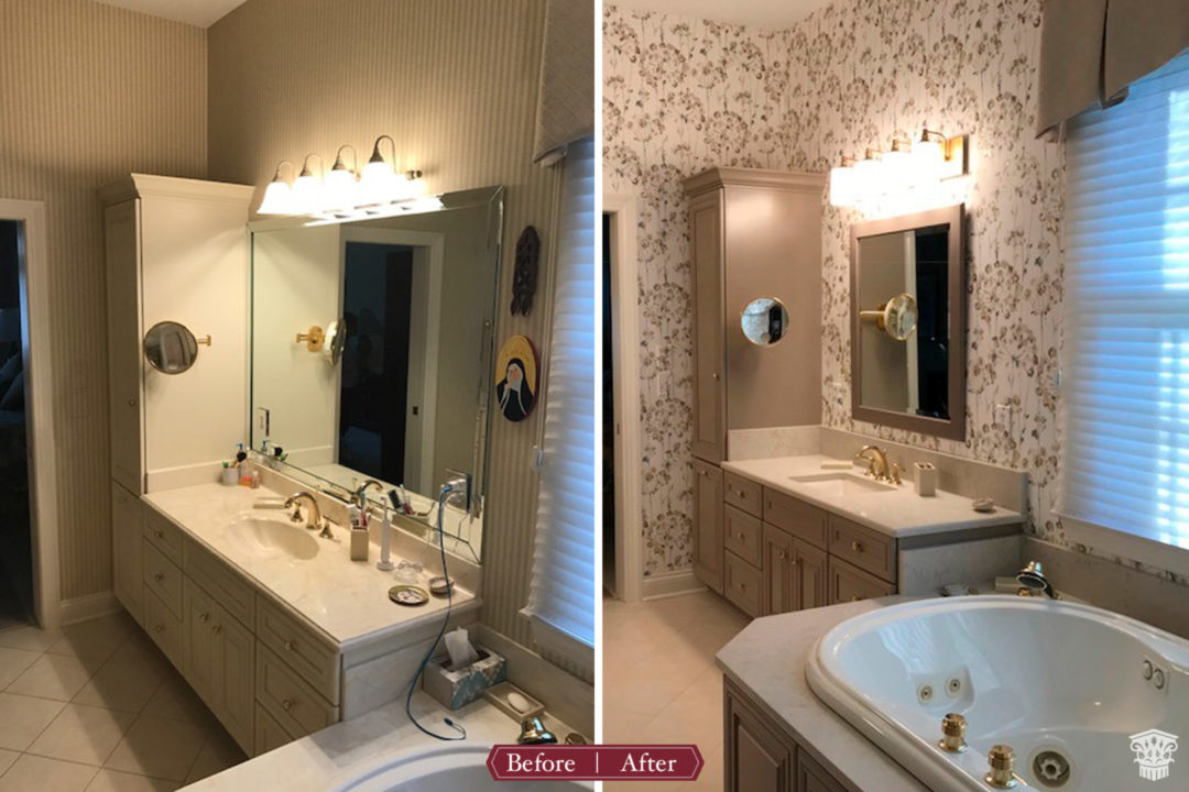 Master Bath Fresh Finishes Before After