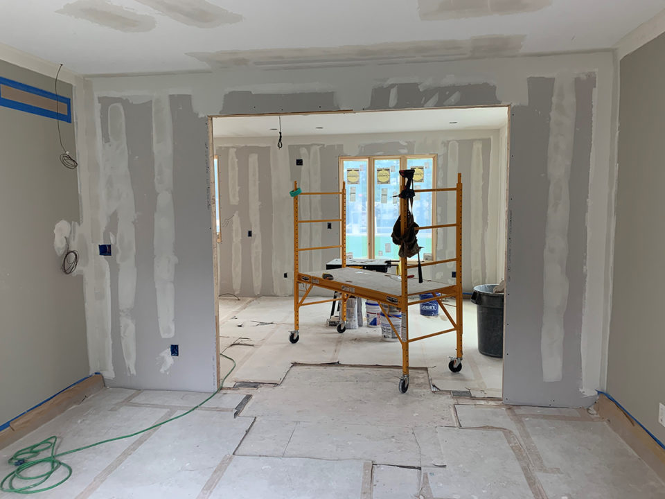 drywall installation phase