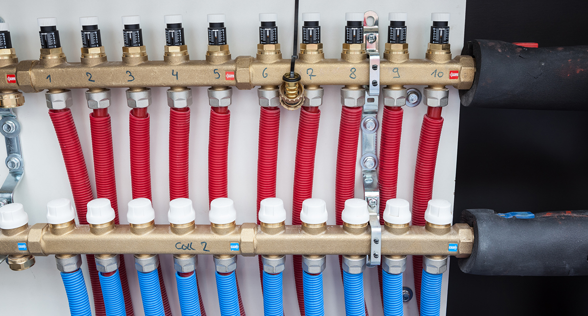 mechanical phase - plumbing manifold - home remodeling project