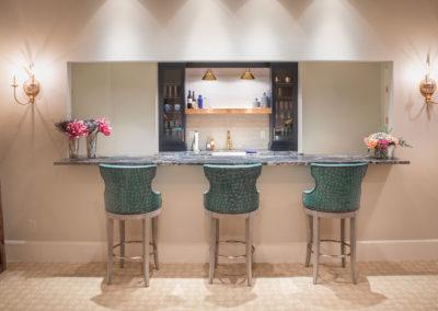 Chic Basement Kitchen/Wet Bar Designed for Entertaining