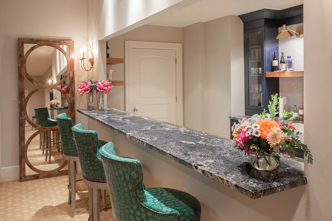 countertops, upper bar area, bar supports, bar seating ideas, Visual Comfort Lighting, wall sconces