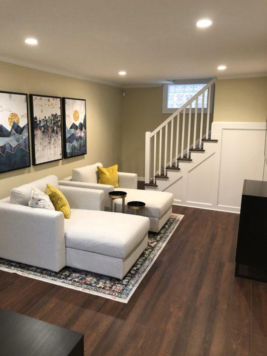 basement renovation, basement remodel, covid office ideas, basement storage ideas