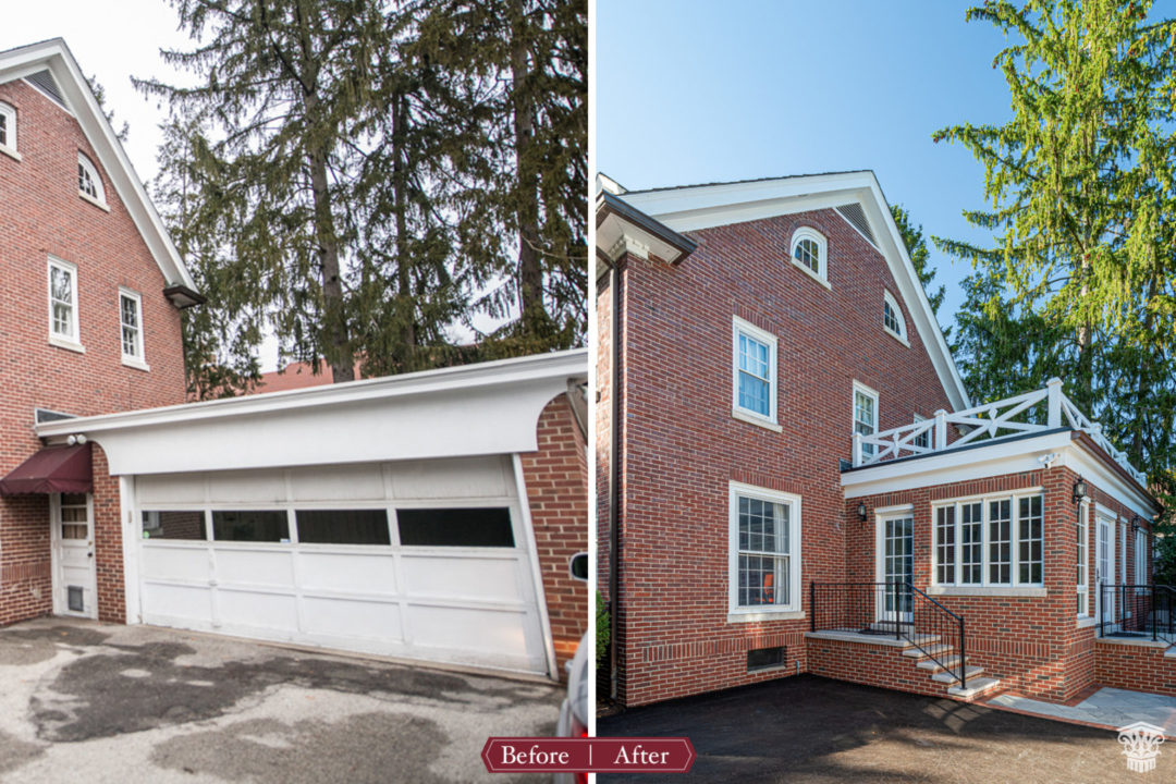 Before and After Garage to Sunroom