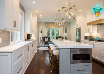Glamorous Kitchen, Dining and Living Renovation with Entertaining in Mind – Kitchen