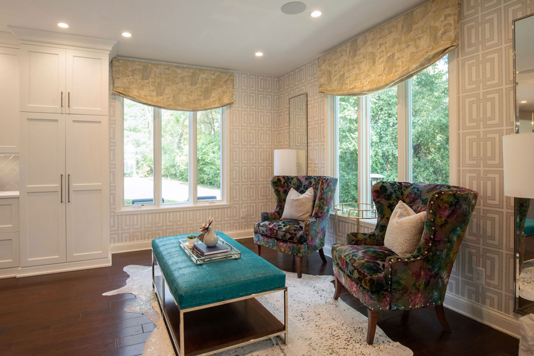 open concept entertaining, open floorplan, open kitchen and dining, contemporary decor, custom cabinetry