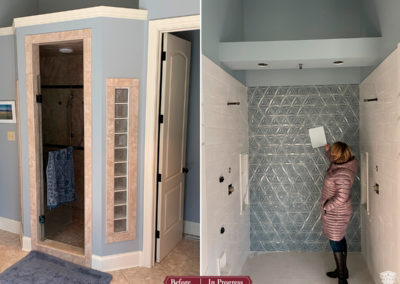 In Progress: Upgraded and Artful Master Suite & Customized Finishes